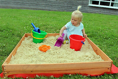 Junior Wooden Sand or Ball Pit with Cover Indoor Outdoor Sandpit