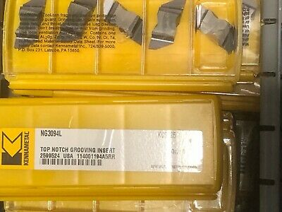 Kennametal NG3094L KC5025 Top Notch Grooving Insert 2599524 ***NEW PACK OF 5***