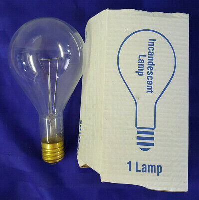 (x12) Philips Incandescent Lamp Clear 500W 120V - NEW