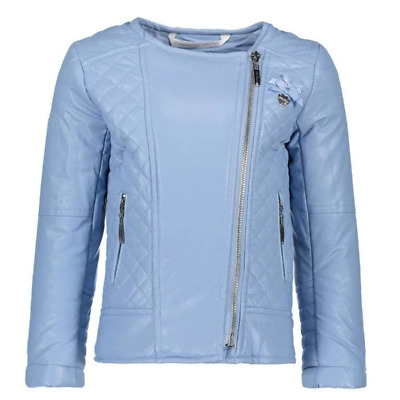 Le Chic Summer 18 Pastel Blue Mock Leather Jacket C8015215