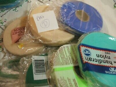 7 x rolls of Nylon Knitting Ribbon for coat hangers. All new but some old roll D