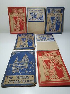 The Sunday Stamp Album Job Lot of 7
