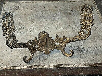 Gorgeous Large Double Antique Coat Hat Hook Cast Iron Architectural Salvage