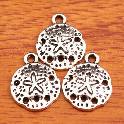 100Piece 16mm charms Tibetan Silver jellyfish Pendant sand dollars Jewelry A7522