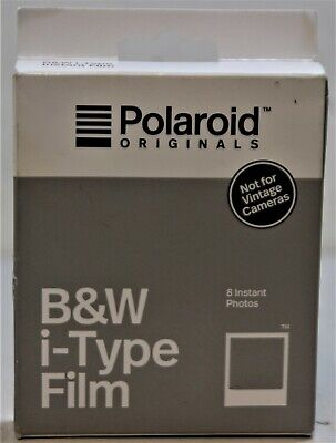 Polaroids 8 B&W Instant Photos For New i-Type Cameras