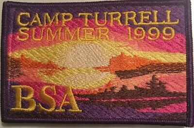Rare Camp Turrell Summer 1999 BSA Boy Scouts Of America Emroidered Patch