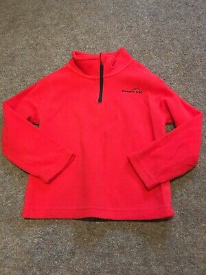 Freedom Trail Girls Red Fleece Zip Up Top Size 3-4 Years