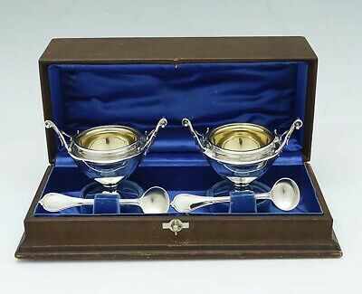 GORHAM Sterling Boxed Set Pair Master SALTS and SPOONS