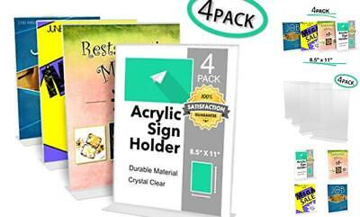 Acrylic Table Top Sign Holder 8.5 x 11 Flyer Stand - Plastic Sign Holder 8.5 4