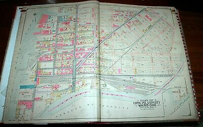 1903 27x37 Belcher Hyde LONG ISLAND CITY QUEENS NYC ATLAS MAP Courthouse PS1