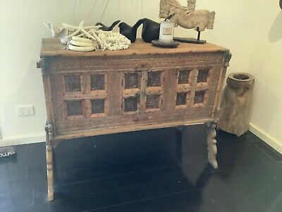 Antique Indian Dowry Chest timber