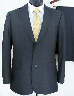 Brooks Brothers 346 Stretch Mens Wool Suit 2 Piece Size 40R Gray Flat Pant 38x30