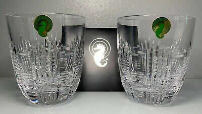 "Waterford Crystal Dungarvan Double Old Fashioned 4"" Whiskey Scotch Glasses"