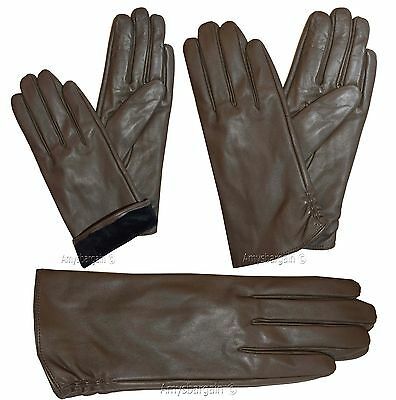 Leather gloves. Woman's Size (M) Leather winter Gloves. Dress Gloves. New Gloves