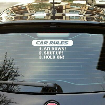 D1030 Barbie Rules Decal Sticker Car Truck SUV Van Mirror Wall Mattel Vintage