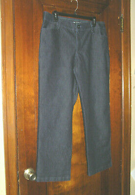 Lee Relaxed Fit 1889 Khakis Chinos Pants Poly/Cotton Stretch Blue Sz 16P 0819