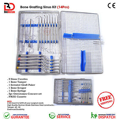 Dental Surgical Implant Bone Grafting Sinus Lift Curettes Tools Surgery Kit CE