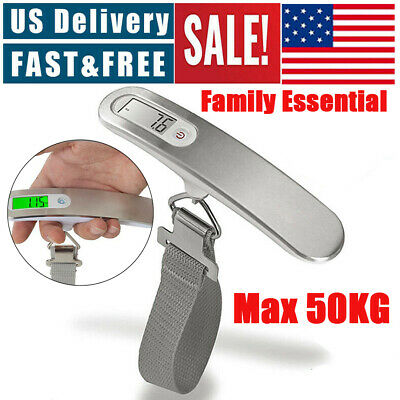 Travel LCD Digital Hanging Luggage Scale Portable Electronic Weight 110lb/ 50kg