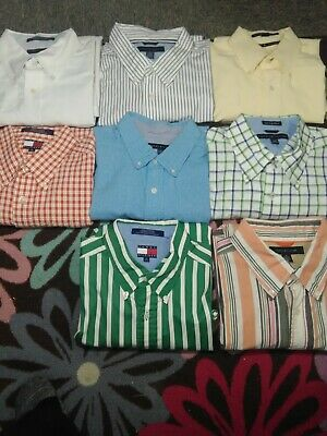 Tommy Hilfiger Lot of 8 Men's Button Down/Up Size XL
