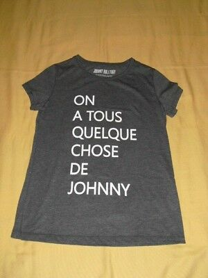 """JOHNNY HALLYDAY Tee shirt taille M """"On a tous quelque chose de Johnny"""""""