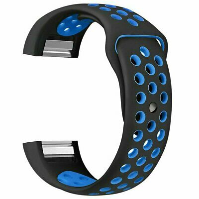 For Fitbit Charge 2 Bands, Soft Silicone Adjustable Replacement Sport Strap Band