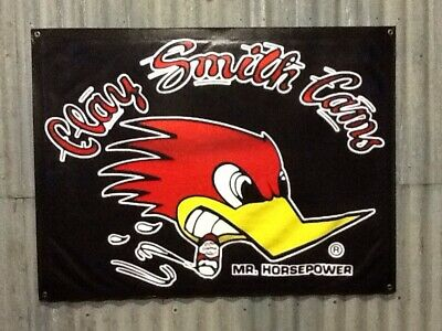 Large 1200mm X 900mm Clay Smith Cams Banner Sign, Shed, Man cave,Garage, Banner.