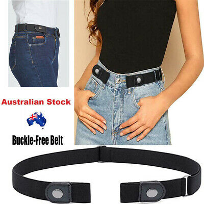 Buckle-free Elastic Comfortable Women No Bulge Hassle Belt for Jeans AU