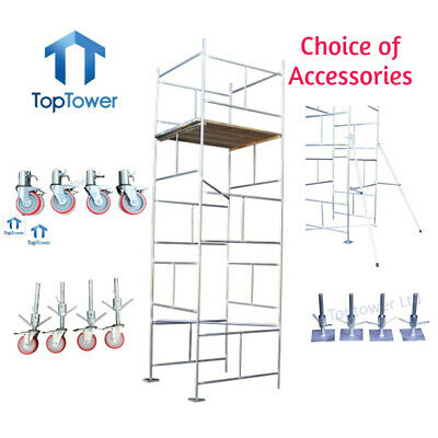 Scaffold Tower DIY 5.5m 4x4 x 18ft Working Height Galvanised Steel Towers