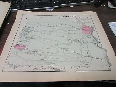 Antique - Original Foster Twp. Pa Map 1873 - Vg Coal Breakers