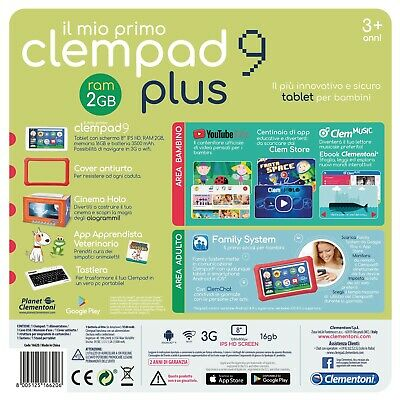 Clempad 9,0 Plus Tablet Tab 3G Per Bambini  Ultima Edizione Clem Pad