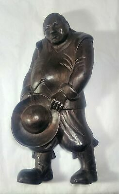 Vintage Wood Carving Sancho Panza Walnut Spain