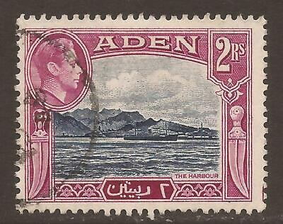 ADEN KGVI 1939-48 SG25 2r deep blue and magenta - Good / Fine Used (JB11437)