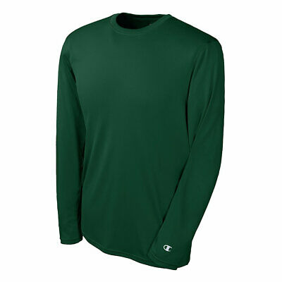 BRAND NEW Champion Men's Double Dry Long-Sleeve Interlock T-Shirt Tee--XS-3XL