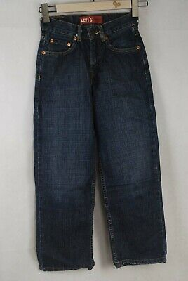 Levis Boys Kid 550 Blue Relaxed Fit Zip Fly Denim Jeans Age12 Waist 24 Leg 26.5