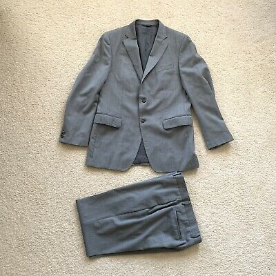 Banana Republic Modern Fit Wool Suit Pants 33x34 Jacket Grey Mens Size 40R