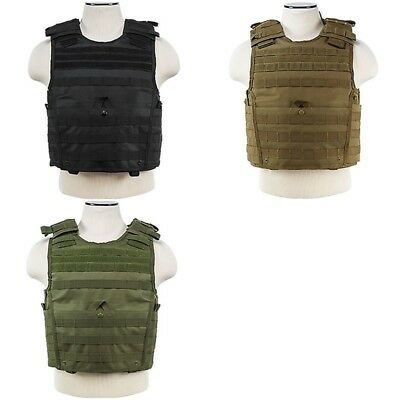 VISM Tactical Vest Plate Carrier Molle Body Armor Expert Police Many Size Colors