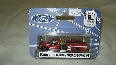 River Point Station RPS HO Scale Ford F-550 Mini Pumper Fire Truck Red//White Z