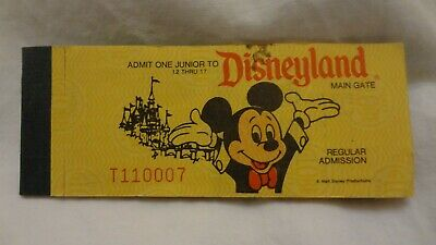 Rare Disney Disneyland A - E Ticket Book Admission Main Gate COMPLETE VALID #2