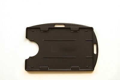 ID Card Holder Black Double Sided