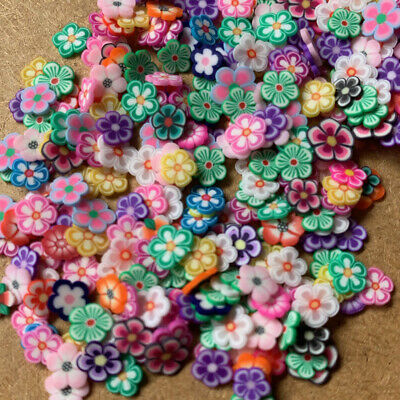 500pc Tiny Clay Flowers 3-5mm Scrapbook beads craft embellishment petals #1757