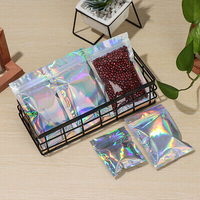 Lock Reclosable Self-sealing Bag Candy Pouch Food Storage Bags Aluminum Foil