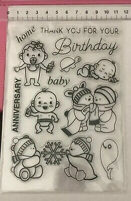 Clear Stamps ~ Babies Bears Snowflake Turtle Baby Anniversary Home Birthday +++