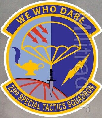 23rd Special Tactics Squadron Patch Desert We Who Dare