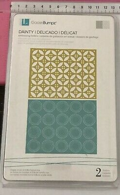 Lifestyle Crafts GooseBumpz A2 Embossing Folders ~ Dainty ~ 2pc