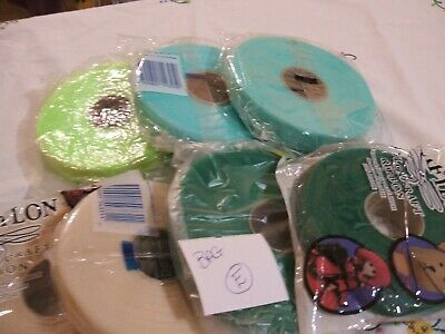 7 x rolls of Nylon Knitting Ribbon for coat hangers. All are new but some old. E