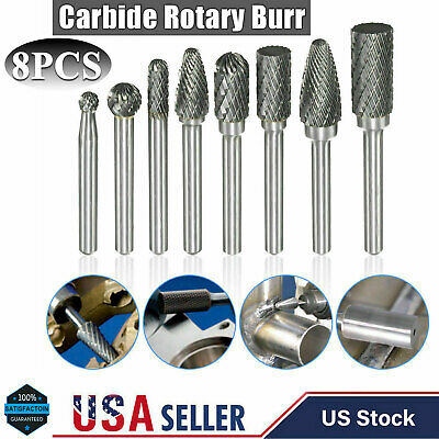 """Shank Oval For Grinder #E060906 6MM Carbide Rotary Burr Double Cut Bit 1//4/"""""""
