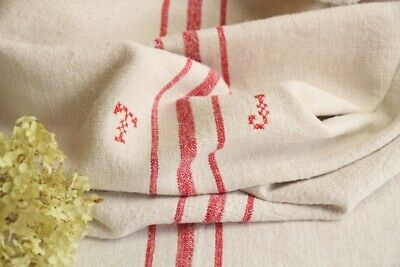 HP 958 antique french linen grain sack grainsack natural white strawberry red ..