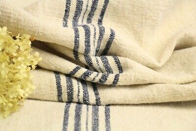 HP 954 antique french grain sack grainsack natural creamy midnight blue stripes