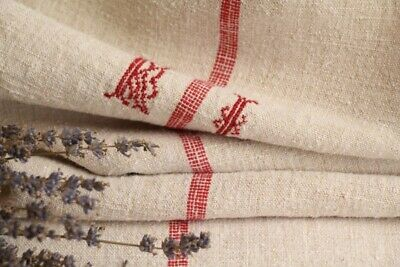 HP 971 antique french linen grain sack grainsack creamy strawberry red stripes