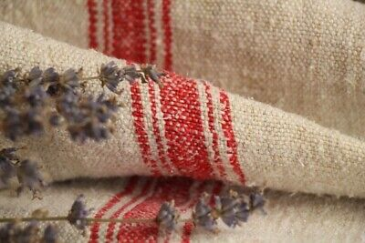 HP 972 antique french linen grain sack grainsack pale oatmeal strawberry red ...